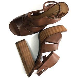 MIA Brown Platform Heels